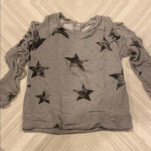 Flowers by Zoe Grey with Distressed Black Star Top